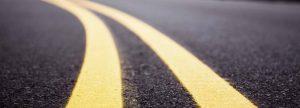 Double yellow line road markings