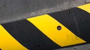 Speed hump markings