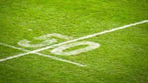 Sports field line markings